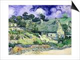 Thatched Cottages at Cordeville, Auvers-Sur-Oise, c.1890 Prints by Vincent van Gogh