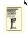 Crackled B&W Column and Cornice IV Print by Giovanni Borra