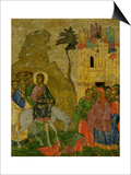 The Entry into Jerusalem, Russian Icon from the Iconostasis in the Cathedral of St. Sophia Poster