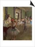 The Dancing Class, circa 1873-76 Art by Edgar Degas