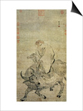 Lao-Tzu (circa 604-531 BC) Riding His Ox, Chinese, Ming Dynasty (1368-1644) Posters
