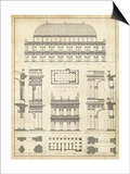Vintage Architect's Plan IV Prints by  Vision Studio