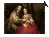 The Jewish Bride, circa 1666 Poster by  Rembrandt van Rijn