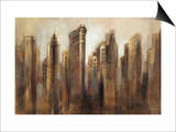 Flatiron Skyline Print by Silvia Vassileva