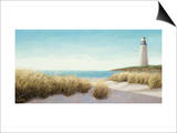 Lighthouse by the Sea Print by James Wiens