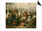 Battle of Tours (Also Called the Battle of Poitiers), France, 25 October 732 Prints by Charles Auguste Steuben