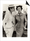 Fiona Campbell-Walter and Anne Gunning in Tailored Suits, 1953 Prints by John French