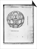 "Icosahedron, from ""De Divina Proportione"" by Luca Pacioli, Published 1509, Venice Poster by  Leonardo da Vinci"