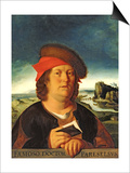 Portrait Presumed to be Paracelsus (1493-1541) Prints by Quentin Metsys