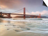 Golden Gate Bridge and Marin Headlands, San Francisco, California, USA Posters by Patrick Smith