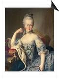 Archduchess Marie Antoinette Habsburg-Lotharingen (1755-93) Prints by Martin van Meytens