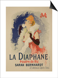 "Reproduction of a Poster Advertising ""La Diaphane"" Prints by Jules Chéret"