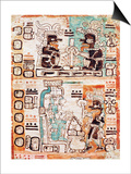 Detail from a Mayan Codex Posters