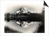 Mount Rainier From Spanaway Lake, 1922 Prints by Asahel Curtis