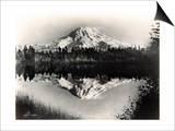 Mount Rainier From Spanaway Lake, 1922 Prints by Asahel Curtis