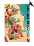 Paradise Beach Club Posters by Hugo Wild