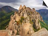Ulsanbawi Peak, Seoraksan National Park, South Korea Print by Geoffrey Schmid