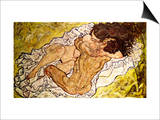 The Embrace, 1917 Prints by Egon Schiele