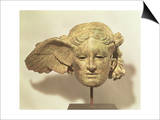 Head of Hypnos, or Sleep, an Auxiliary of Hades, Represented as a Winged Youth Art
