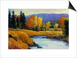 Purple Mountain View II Prints by Tim O'toole