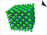 Sodium Chloride Formation of an Ionic Crystal Prints by Carol & Mike Werner