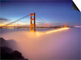 Layer of Low Fog and the Golden Gate Bridge, San Francisco, California, USA Prints by Patrick Smith