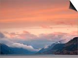 Columbia River Gorge Sunrise on the Washington/Oregon Border in Winter, USA Posters by David Cobb