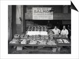 Palace Fish Market, Seattle, 1925 Print by Asahel Curtis