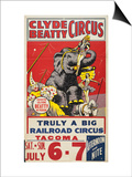 """Clyde Beatty Circus; Truly Big Railroad Circus"", 1935 Posters"