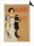 "Reproduction of a Poster Advertising the May Issue of ""Harper's Magazine,"" 1897 Posters by Edward Penfield"