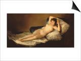 The Naked Maja, circa 1800 Print by Francisco de Goya