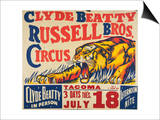 """Clyde Beatty, Russell Bros. Circus"", 1935 Poster"