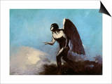 The Winged Man Or, Fallen Angel, Before 1880 Art by Odilon Redon