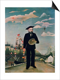 Self Portrait, from L'Ile Saint-Louis, 1890 Prints by Henri Rousseau