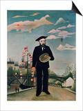 Self Portrait, from L'Ile Saint-Louis, 1890 Prints by Henri Rousseau