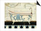 Marche de Fleurs Bath I Prints by Lisa Audit