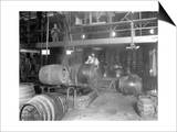 Seattle Brewing & Malting Co., Pitching Machine, 1914 Prints by Asahel Curtis