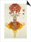 "Ballet Costume for ""The Firebird,"" by Stravinsky Posters by Leon Bakst"