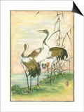 Oriental Cranes I Poster autor Vision Studio
