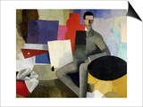 The Seated Man, or the Architect Posters by Roger de La Fresnaye