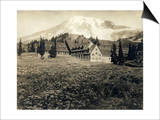 Paradise Inn and Mount Rainier, 1916 Posters by Asahel Curtis