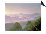 Morning in the Mountains Prints by Caspar David Friedrich