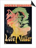 Folies Bergeres: Loie Fuller, France, 1897 Art by Jules Chéret