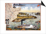 Mississippi Steamboat Posters