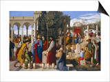 The Marriage at Cana, 1819 Prints by Julius Schnorr von Carolsfeld