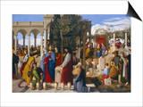 The Marriage at Cana, 1819 Prints by Julius Schnorr von Carolsfeld