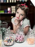 Pretty Little Miss Lollipop Posters by Yvette Leur