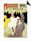 "Reproduction of a Poster Advertising ""La Goulue"" at the Moulin Rouge, Paris Print by Henri de Toulouse-Lautrec"