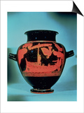 Odysseus and the Sirens, Athenian Red Figure Stamnos Vase by the Siren Painter Poster
