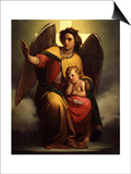 The Guardian Angel, 1854 Prints by Antonio Zona